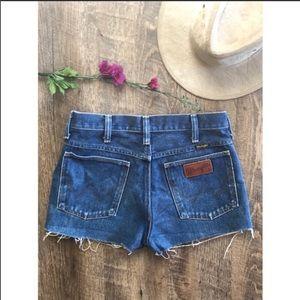 Vintage wrangler cut off jeans